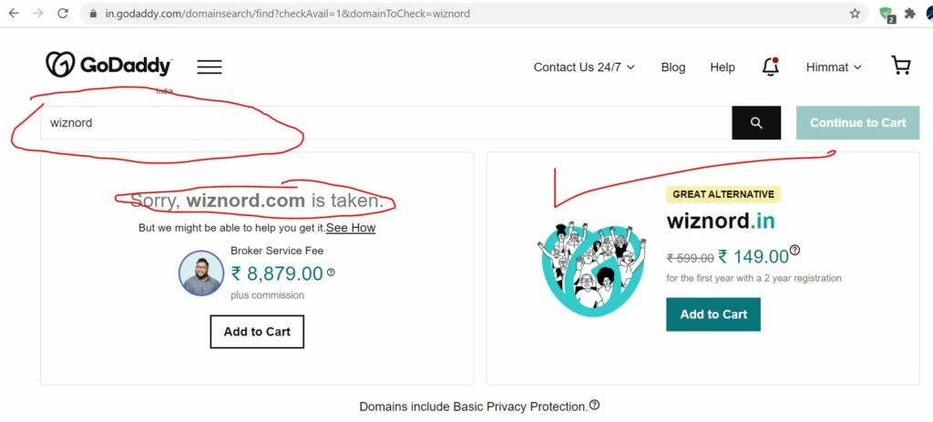domain buying - godaddy